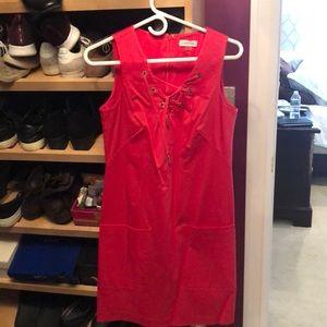 Calvin Klein size 6 coral dress
